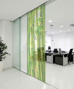 naklejka na okno bambusy