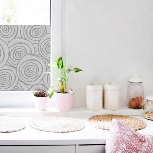naklejka na okno w kuchni z ornamentem