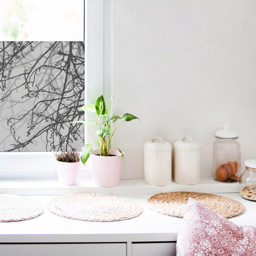 kuchenna naklejka okienna z gałązkami
