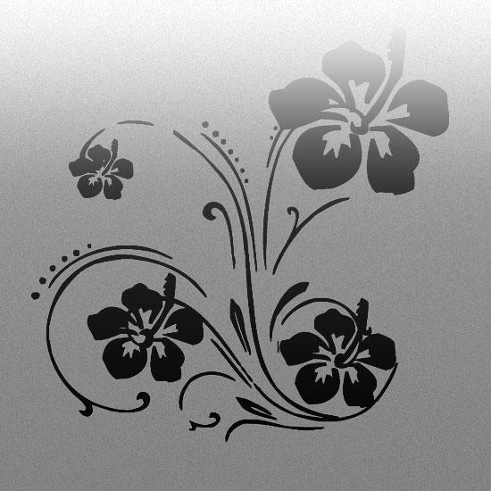 naklejki na szyby z kwiatami
