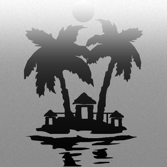naklejki na okna z palmą