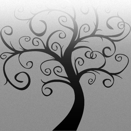 naklejki na szkło z drzewem