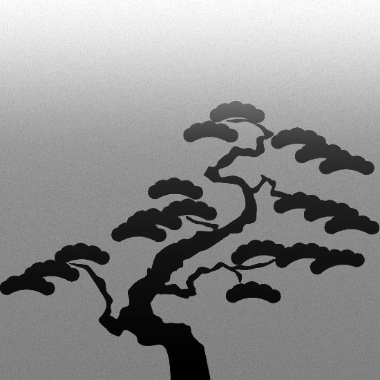 ozdoby szyb drzewo bonsai