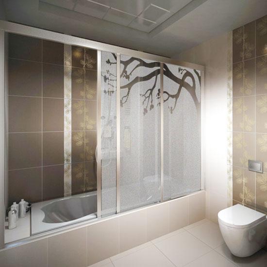 dekoracja kabiny prysznicowej