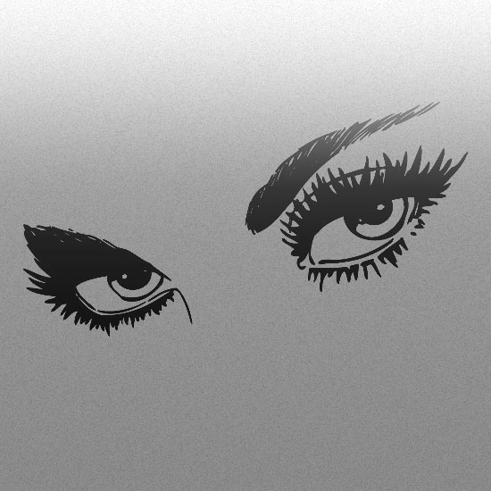 naklejki na szkło oczy