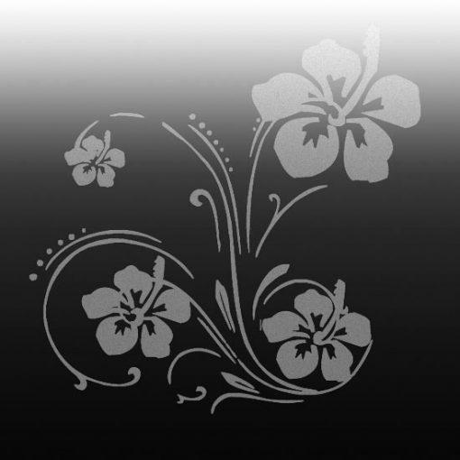 dekoracja lustra orchidea