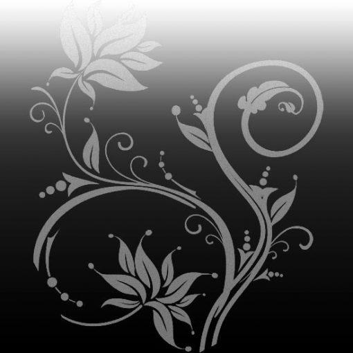 naklejki na lustra kwiaty