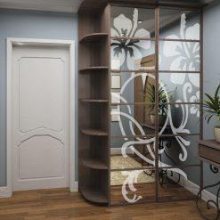 naklejka na lustro orchidea