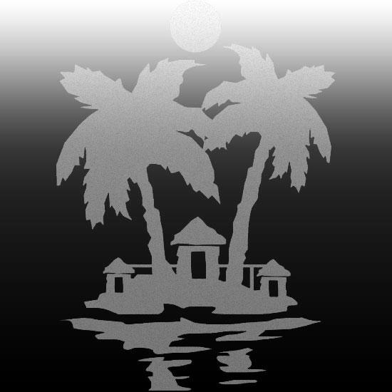 ozdoby na lustra z palmami