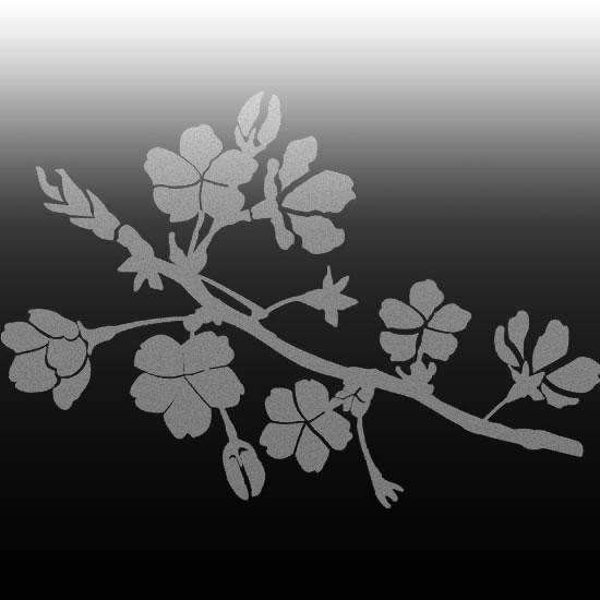ozdoby na lustro kwiaty