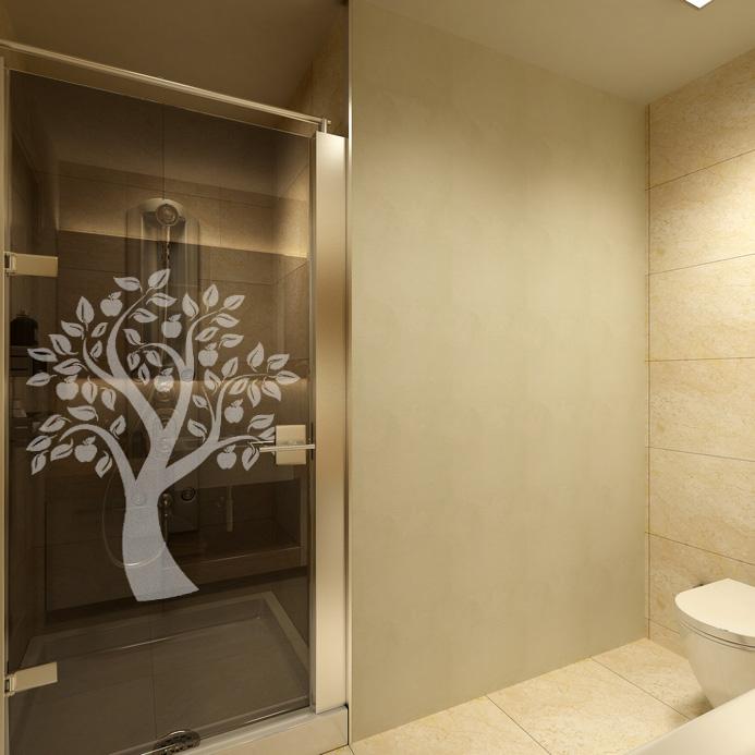 naklejka na lustra z drzewem owocowym