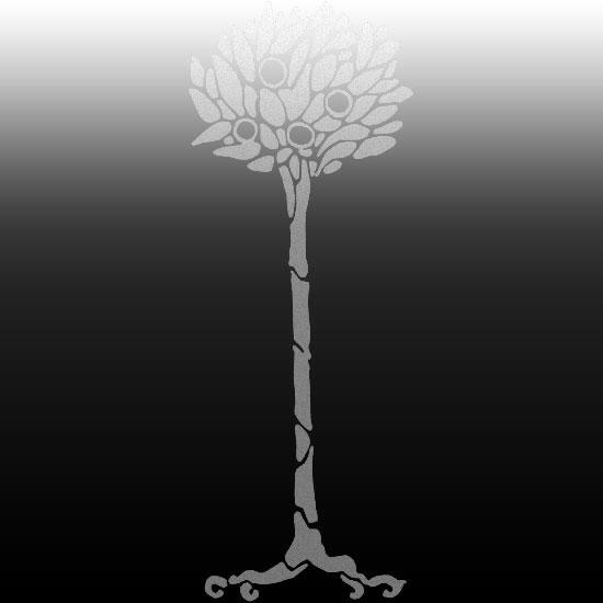 naklejka na lustro drzewo