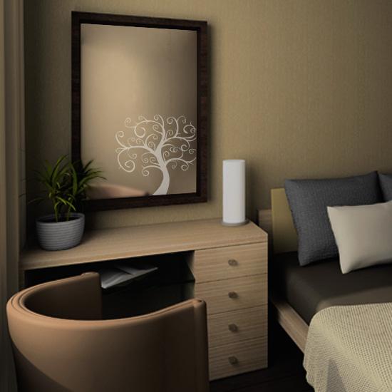 dekoracyjna naklejka na lustro