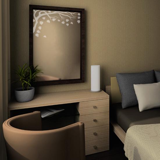 dekoracja lustra