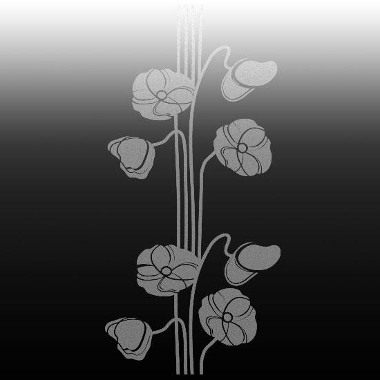wzory na szyby z kwiatami