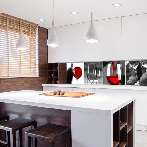 fototapeta na szklany panel do kuchni czerwone wino