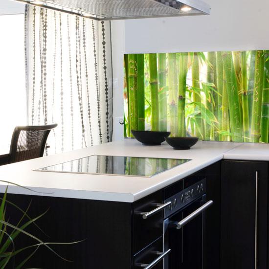naklejka pod szkło bambusy