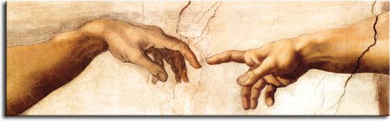 dłonie Adama naklejka na szyby