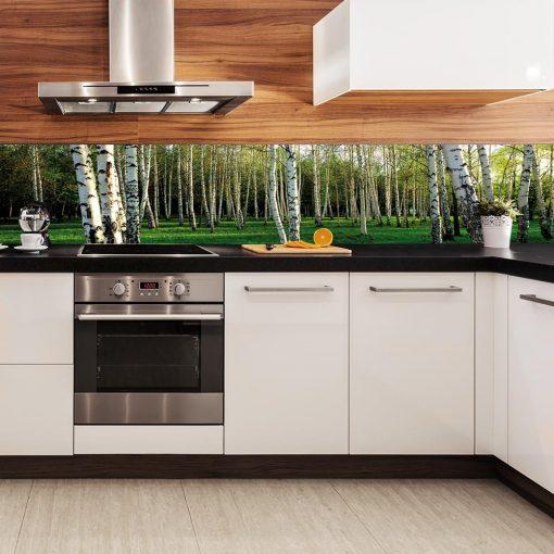 brzozy naklejka pod szybę w kuchni