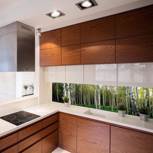 naklejka pod szybę w kuchni z lasem