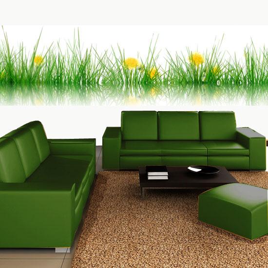 naklejki na szkle z motywem trawy