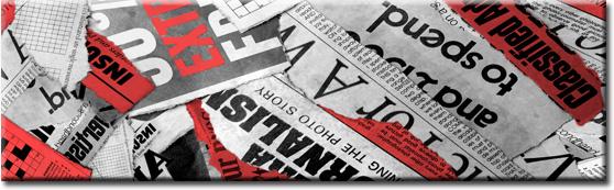 naklejki na szyby czerwona gazeta