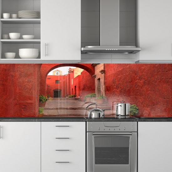 fotoszyba czerwona uliczka w peru