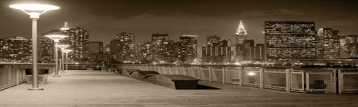 fototapeta na szybę kuchenną z panoramą miast a
