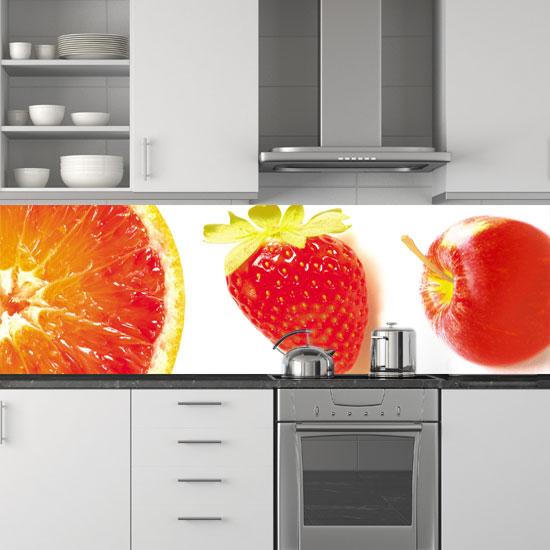 ozdoby na szyby owoce