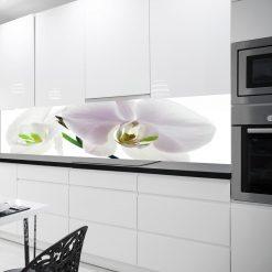 naklejka na szybę białe kwiaty do kuchni