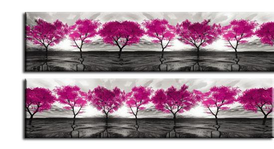 fototapeta na szybę różowe drzewa