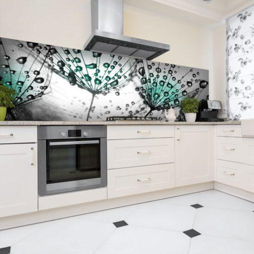 naklejka na szklany panel z dmuchawcami do kuchni