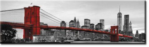fototapeta pod szybę z czerwonym mostem brooklińskim