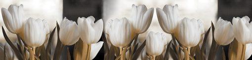 laminat na szyby z tulipanami