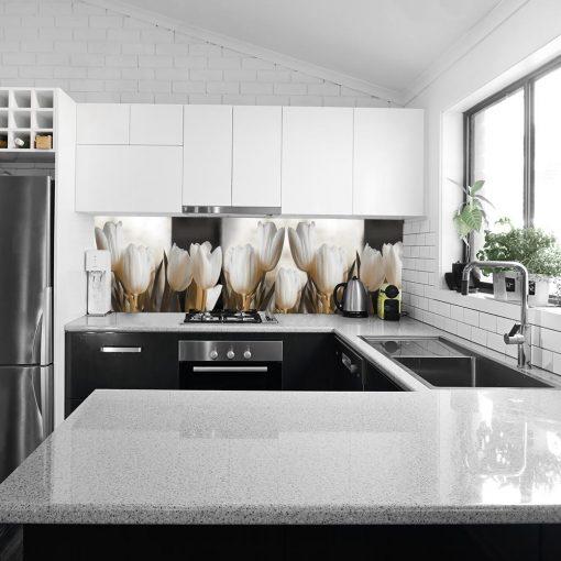 naklejka do kuchni na szybę tulipany