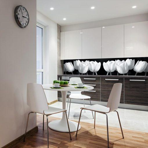 naklejka na szklany panel w kuchni tulipany