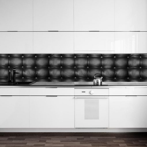 pikowana fototapeta na szybę w kuchni