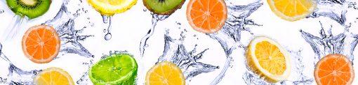 naklejka na szybę do kuchni owoce