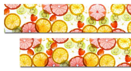 laminaty pod szyby owoce