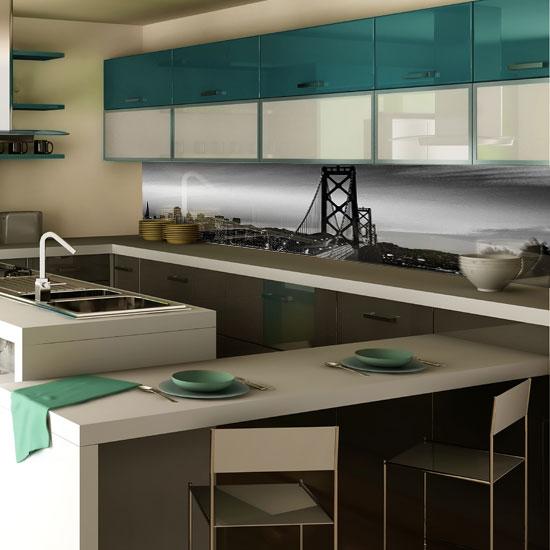 panel szklany most - Szyby do kuchni