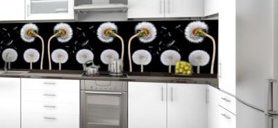 szkło do kuchni - naklejka na szybę dmuchawce