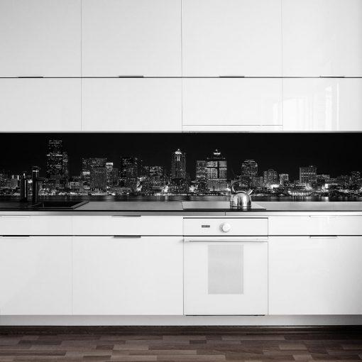 naklejka na szybe z panoramą miasta