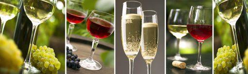 folia na szklany panel wino