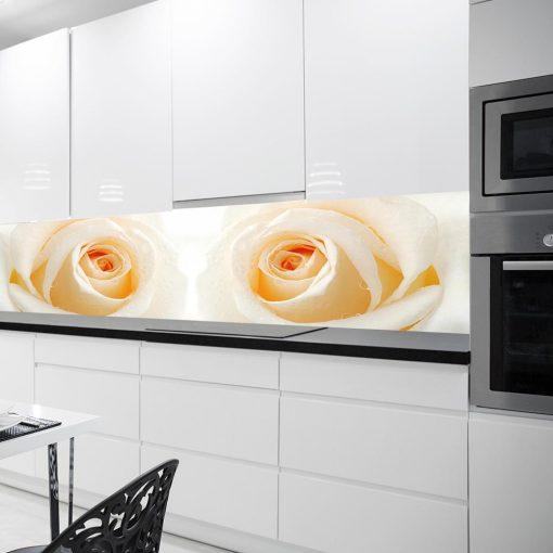 naklejka do kuchni z różami na szybę