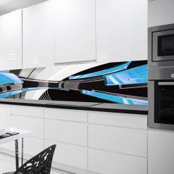 naklejka na szybe w kuchni abstrakcja