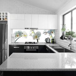 naklejka na szklany panel białe storczyki