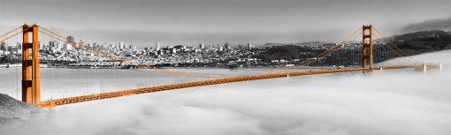 fototapeta z pomarańczowym mostem do kuchni na szybę