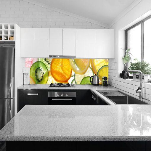 laminat owoce pod szklany panel w kuchni