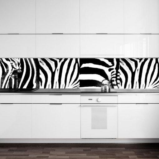 fototapeta na szklany panel w kuchni zebra