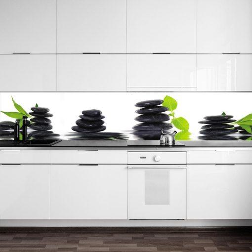 naklejka na szklany panel kamyki do kuchni